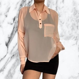 4 for $20 Forever 21 Baby Pink Sheer Blouse